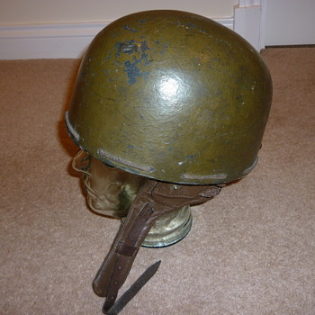 British WW11 pressed fibre Dispatch Riders helmet - Military and Wartime