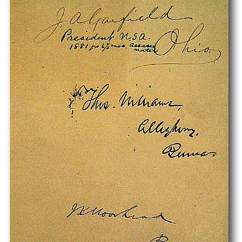 Original signature of James A. Garfield, the 20th President of the United States - Books