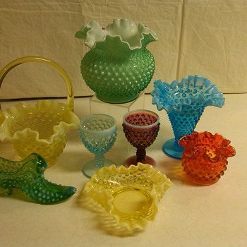 MORE PIECES OF FENTON HOBNAIL FROM MY COLLECTION - Glassware