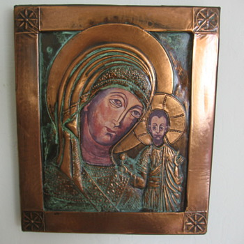 Hammered Copper Religious Art