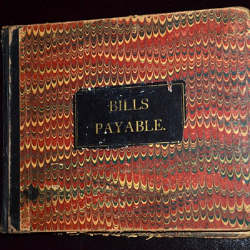 Bills Payable / Bills Receivable 1880s Account Books from Cold Springs, Minnesota