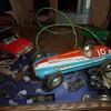 "Marusan - Japan, ""Black Jaguar"" remote controlled tin car"