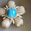 Chunky Coro brooch