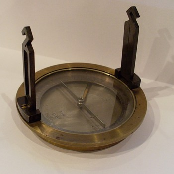 Old brass compass