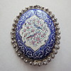 Handmade enameled Persian pin brooch (Quajar Dynasty) set in Silver