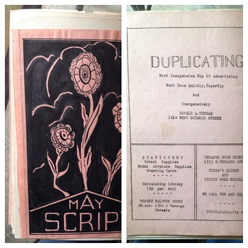 This appears to be a publication by Donald a Thomas called may script
