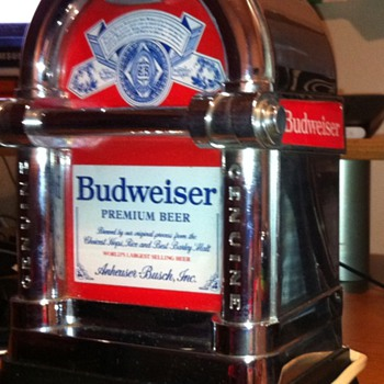 Bud Bar Chrome Lighted sign  - Breweriana
