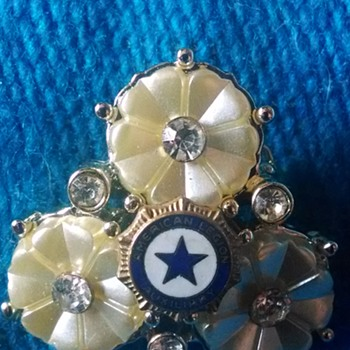 American Legion Auxillary Brooch - Medals Pins and Badges