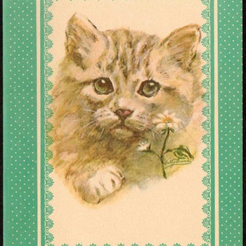 "1978 - ""Kitty Cat"" Note Card"