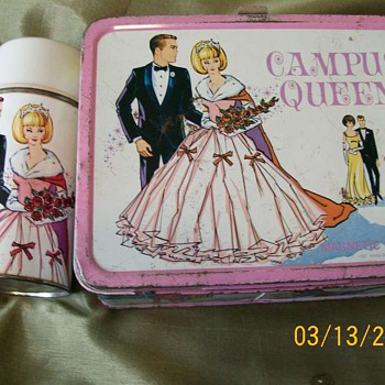 Metal Lunchbox Prom Queen and Thermos 1967