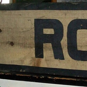 1/2 of a Rail Rood crossing sign