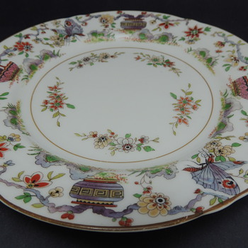 Royal Worcester 1912 Plate Butterflys  - China and Dinnerware