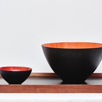 Krenit Bowls and Finn Juhl Tray (Denmark), 1950's
