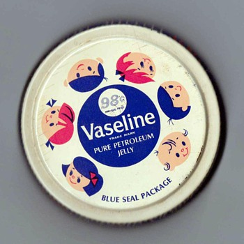 1968 - Vaseline Nursery Jar Lid - Advertising