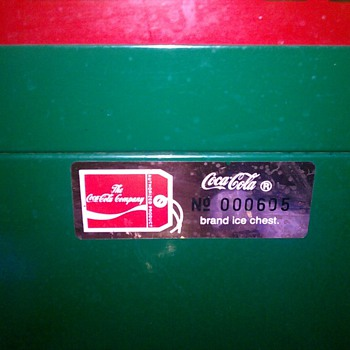 Coca Cola Brand Ice Chest