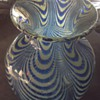Pulled feather, Nailsea, design glass vase, old or new?