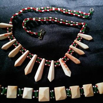 Grandmother's necklace and bracelet