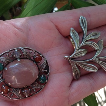 Two Bernard Instone Silver Brooches