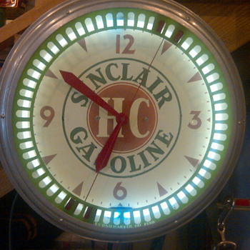 sinclair spinner clock - Petroliana
