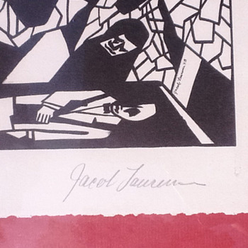 Jacob Lawrence 'Home In A Box' circa 1948; pencil signed lithograph  - Posters and Prints