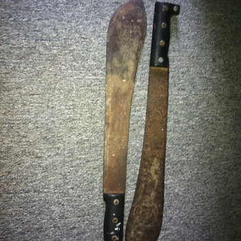 A couple of old Machete's I love
