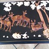 Lacquered Document box with Deer Motif