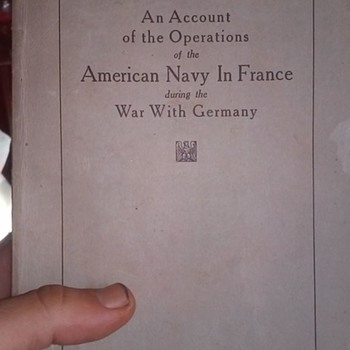Book on WWI with letter