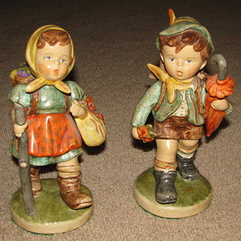 Porcelain Figurines (Little Boy & Girl) - Art Pottery