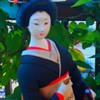 Shamisen player with black kimono (continued)