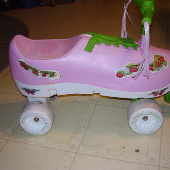 processed plastic # 1880 strawberry shortcake riding toy???