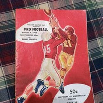 8/6/1960 Dallas Cowboys vs San Francisco 49ers program