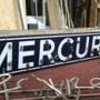 Mercury neon sign 1950