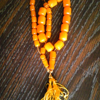 butterscotch prayer beads - Costume Jewelry