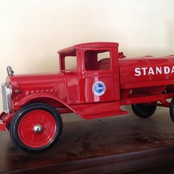 Old restored 1935 Buddy L Standard Oil truck.  - Petroliana