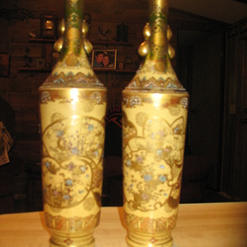 Antique vases (Japanese, Chinese?) - Asian