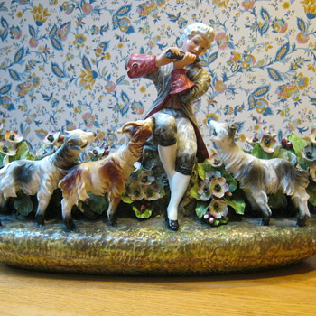 Vintage Pottery Made in Italy Signed - Figurines
