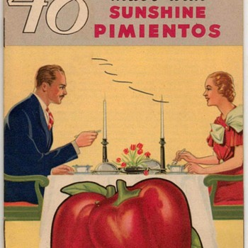 "1934 - ""Sunshine Pimientos"" Recipes Booklet - Books"