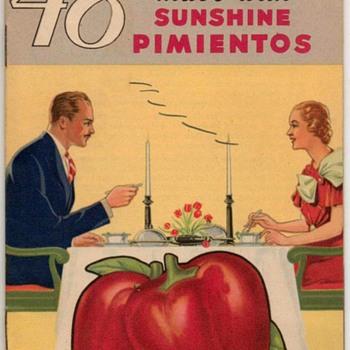 """1934 - """"Sunshine Pimientos"""" Recipes Booklet - Books"""