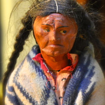 Indian Doll with Human/Horse hair Germany - Dolls