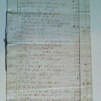 1822 General John Stark Estate Account - Paper
