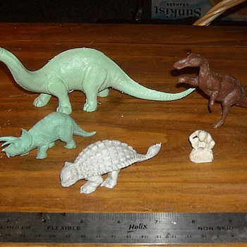1960s Marx Dinosaurs and Cavemen 1960s. - Toys