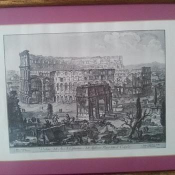 Veduta Dell Arco Di Coftantino E Dell Print - Visual Art
