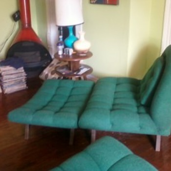 My Weekend Estate Sale Find! Adrian Pearsall Goundola Sofa & Chair Ottomon