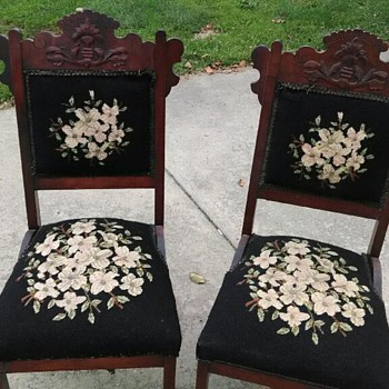needle point chairs