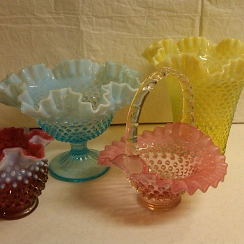 MORE PIECES OF FENTON HOBNAIL