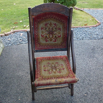 Any ideas on style or period on this folding chair from my mother?