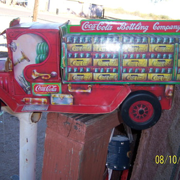 Cardboard Coca Cola Truck Bank