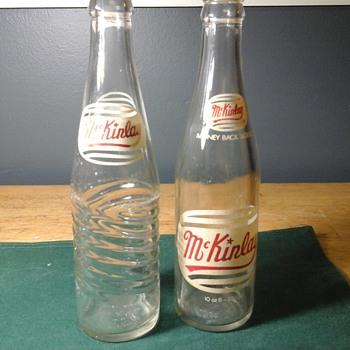 Soda bottles.