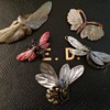 Group of Art Nouveau Insect Brooches & Hair Clip - GIP