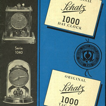 Schatz 1000 Day Clock Instructions